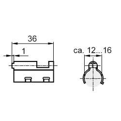 Siemens ARG86.3 Átváltó kábel tartó
