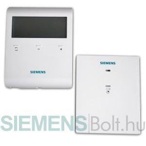 Siemens RDD100.1RFS Vezeték nélküli szobatermosztát LCD kijelzővel