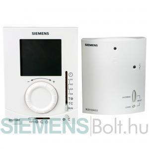 Siemens RDJ10RF/SET rádiófrekvenciás forgatógombos szobatermosztát