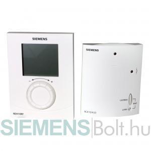 Siemens RDH10RF/SET rádiófrekvenciás forgatógombos szobatermosztát