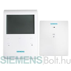 Siemens RDE100.1 RFS heti időprogramos vezeték nélküli szobatermosztát