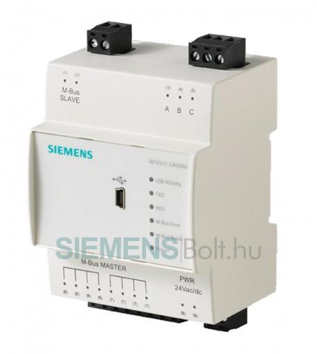 Siemens WTV531-GA5060 M-bus jelátalakító központ
