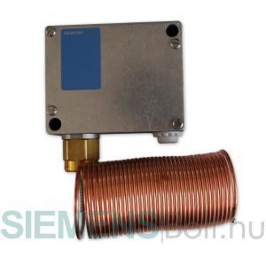 Siemens QAF81.6M Légoldali fagyvédő termosztát, kézi reset-tel, kapilláris cső 6 m