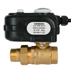 """Siemens SMP 28-10 Forgató motor + I/VBZ 1"""" gömbcsap"""