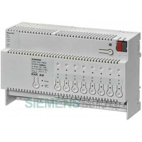Siemens 5WG1502-1AB02 Gamma N 502/02 Kombi-Kapcsolóaktor 8 x AC 230 V, 16 A
