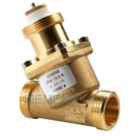 Siemens VPI46.15L0.2 Dinamikus térfogatáram szabályozó szelep, mérőcsonk nélkül, DN10, belső menetes kivitel