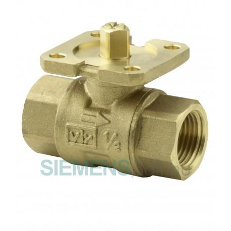 Siemens VAI61.40-16 kétjáratú gömbcsap belső-menetes, PN40, DN40, kvs 16