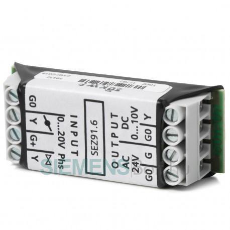 Siemens SEZ91.6 Jelátalakító DC 0...20 V phs. -ról DC 0...10 V -ra