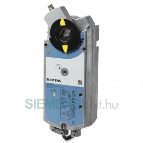 Siemens GCA131.1E Zsalumozgató motor, AC 24 V, 3-pont, forgó, 16 Nm, rugóvisszatérítés, 90/15 sec.