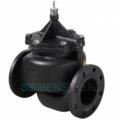 Siemens VPF43.100F90 Dinamikus térfogatáram-korlátozó és szabályozószelep DN100, mérőcsonkkal, karimás csatlakozással, PN16