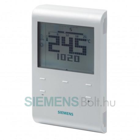 Siemens RDE100.1 RF heti időprogramos vezeték nélküli szobatermosztát