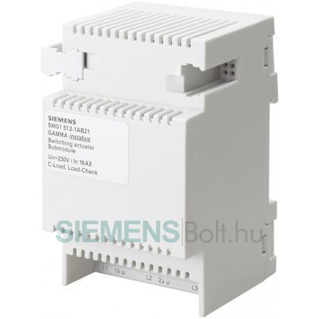Siemens 5WG15131AB21 GAMMA N 513/21 KAPCSOLÓAKTOR S3X20AX C- BŐVÍTŐUNG 3X AC 230V 20AX C-TERHELÉS TERHELÉS-ELLENÖRZÉS