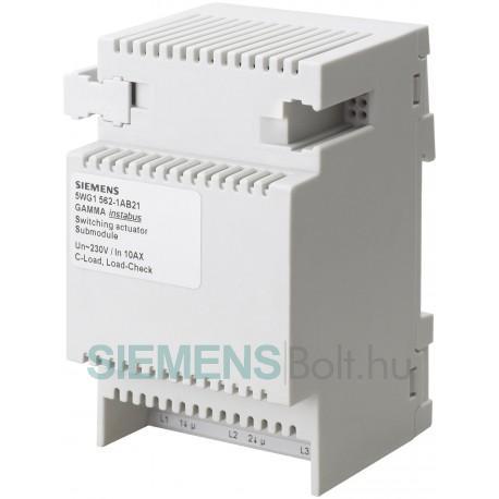 Siemens 5WG15621AB21 GAMMA BŐVÍTŐUNG 3X AC 230/400V 10A C-TERHELÉS TERHELÉS-ELLENÖRZÉS