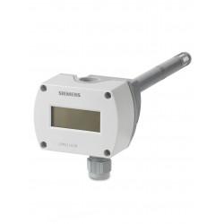 Siemens QPM2160D Légcsatornába építhető légminőség és hőmérséklet érzékelő CO2 T DC 0…10V vagy DC 0…5V LCD kijelzővel
