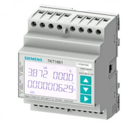 Siemens 7KT1661 SENTRON 7KT PAC1600 fogyasztásmérő 230 V, Modbus RTU, kalapsínre
