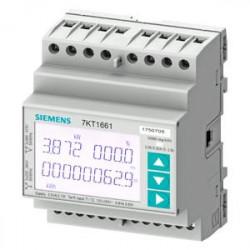Siemens 7KT1663 SENTRON 7KT PAC1600 fogyasztásmérő, LCD, 230 V, 5 A, 3-fázis, M-bus, kalapsínre