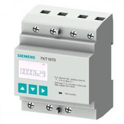 Siemens 7KT1665 SENTRON 7KT PAC1600 fogyasztásmérő, LCD, 230 V, 80 A, 3-fázis, Modbus RTU, kalapsínre